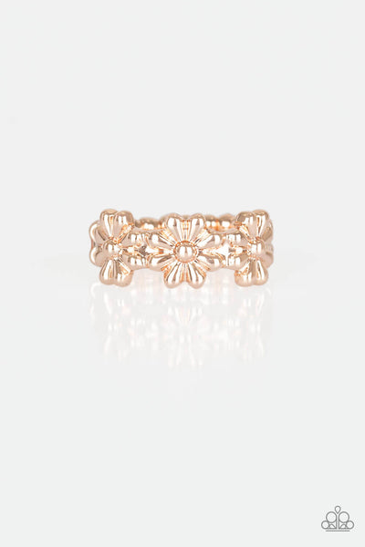 Paparazzi Daisy Dapper - Rose Gold Ring - Princess Glam Shop