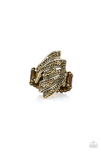 Paparazzi Majestically Monte Carlo - Brass Ring - Princess Glam Shop
