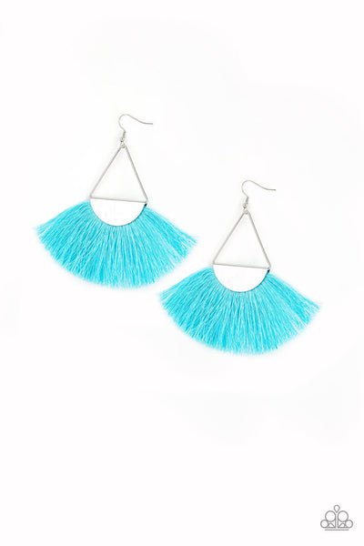 Paparazzi Modern Mayan - Blue Fringe Earrings - Princess Glam Shop