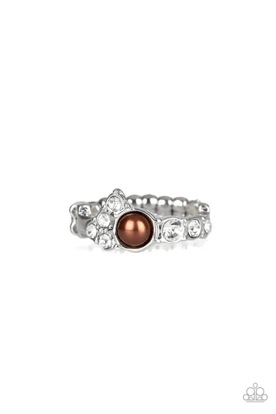 Paparazzi Center Stage Celebrity Ring - Brown - Princess Glam Shop