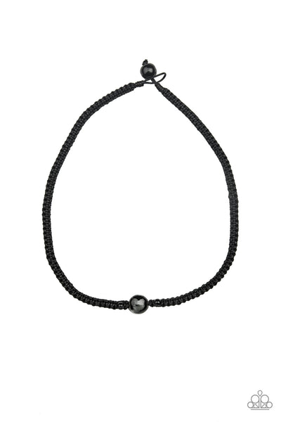 Paparazzi Go Climb A Mountain - Black Men's Necklace - Princess Glam Shop