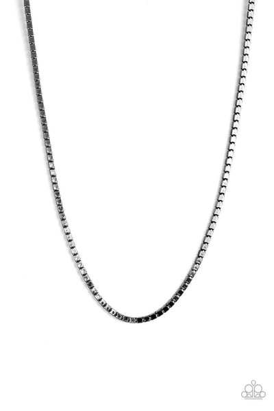 Paparazzi Boxed In - Black Men's Necklace - Princess Glam Shop