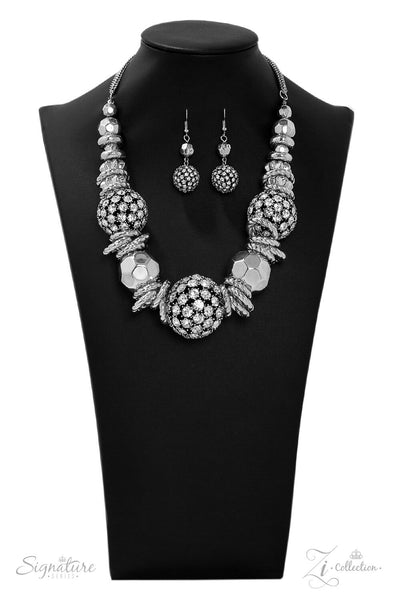 Paparazzi The Barbara - 2019 Signature Zi Collection Necklace Set - Retired - Princess Glam Shop