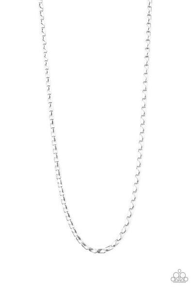 Paparazzi Free Agency - Silver Men's Necklace - Princess Glam Shop