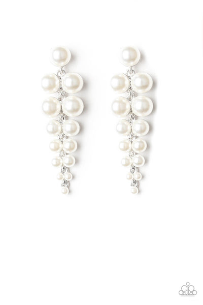 Paparazzi Totally Tribeca - White Pearl Earrings - Princess Glam Shop