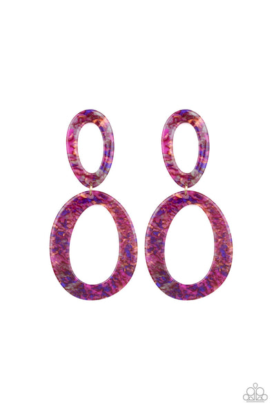Paparazzi Hey, HAUTE Rod - Multi Acrylic Earrings - PrincessGlamShop