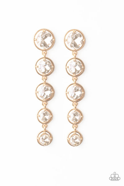 Paparazzi Drippin In Starlight Gold Earrings - Princess Glam Shop