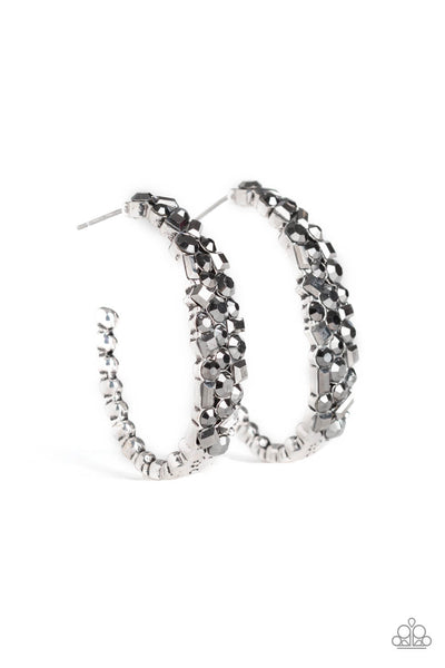 Paparazzi A GLITZY Conscience - Silver Earrings - Princess Glam Shop