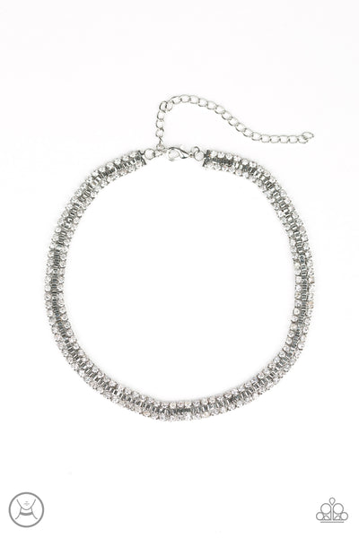 Paparazzi Full Of Hot HEIR - White Choker Necklace Set - Princess Glam Shop
