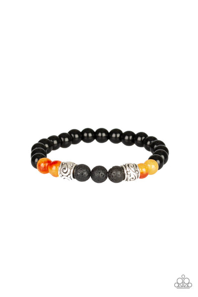 Paparazzi Proverb - Orange Bead Bracelet - Princess Glam Shop