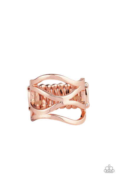 Paparazzi All Over The Place - Copper Ring - Princess Glam Shop