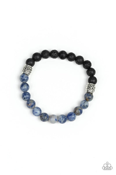 Paparazzi Take It Easy - Blue Stone Bracelet - PrincessGlamShop