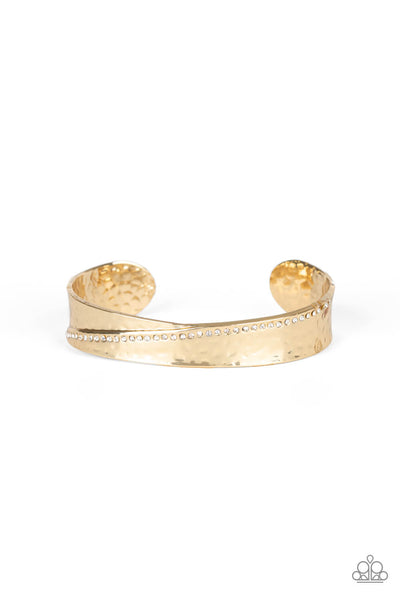 Paparazzi Bring The Bling - Gold Cuff Bracelet - Princess Glam Shop