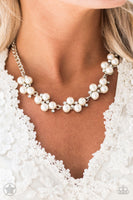 Paparazzi Love Story White Pearl Necklace Set - Princess Glam Shop