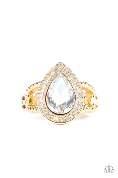 Paparazzi Hollywood Heirloom - Gold Ring - Princess Glam Shop