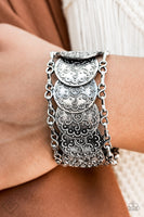Paparazzi Tribal Treasure Trove Silver Disc Bracelet - Princess Glam Shop