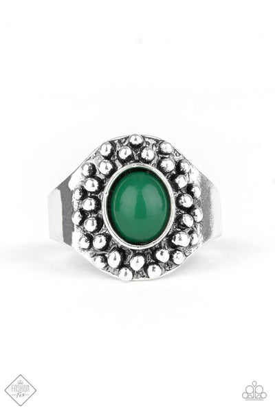 Paparazzi Please and Thank You Pantone Green Ring - PrincessGlamShop