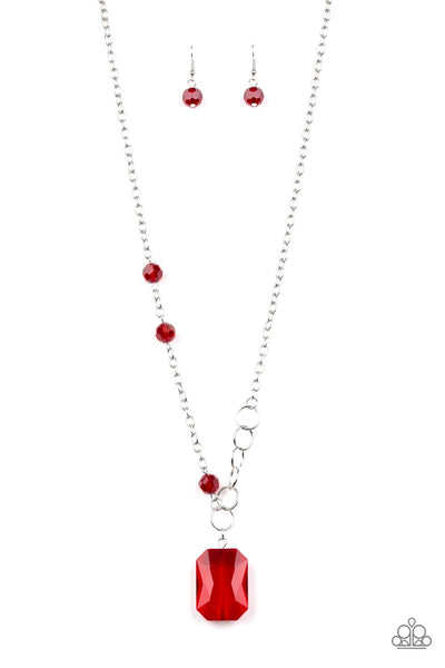 Paparazzi Never a Dull Moment - Red Necklace Set - Princess Glam Shop