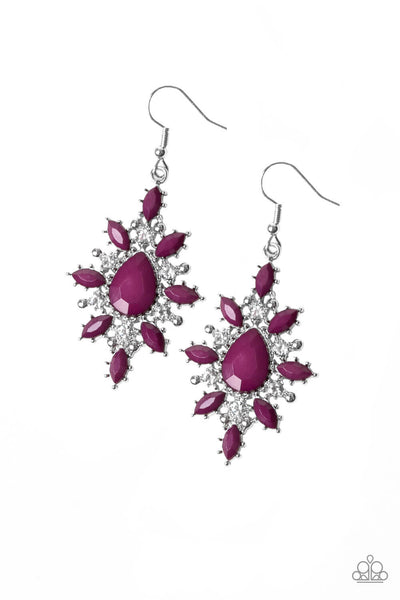 Paparazzi Glamorously Colorful - Purple Earrings - Princess Glam Shop