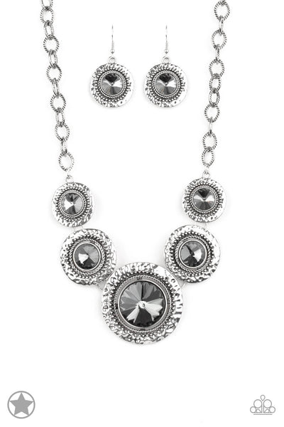 Paparazzi Global Glamour - Silver Necklace Set - Princess Glam Shop