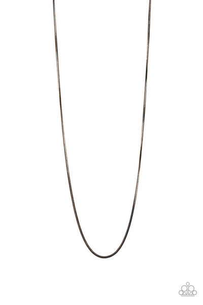 Paparazzi Mixed Mayhem - Gold & Black Men's Urban Necklace - Princess Glam Shop