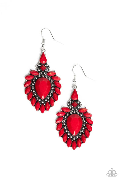 Paparazzi The LIONESS Den - Red Earrings - Princess Glam Shop