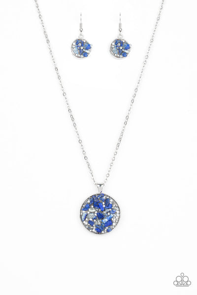 Paparazzi GLAM Crush Monday - Blue Lapis Necklace Set - Princess Glam Shop