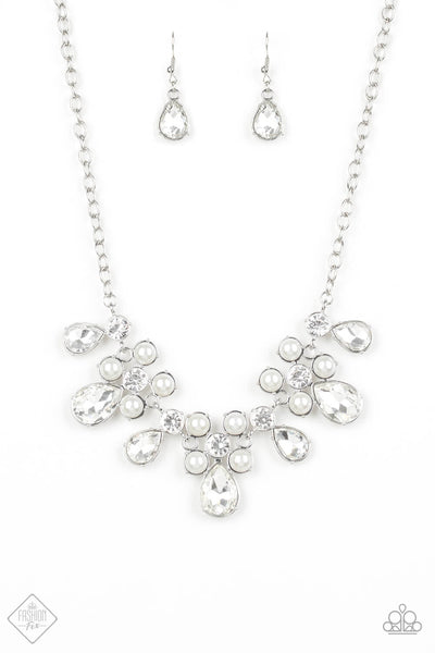 SOLD OUT Paparazzi Demurely Debutante Rhinestone & Pearl Necklace Set - Princess Glam Shop