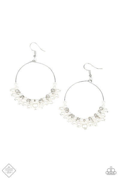 SOLD OUT Paparazzi The PEARL-fectionist White Earrings - Princess Glam Shop