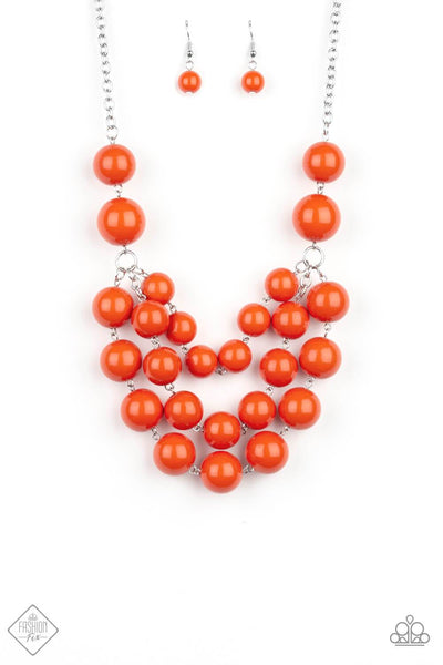 Paparazzi Miss Pop-YOU-larity Orange Necklace Set - PrincessGlamShop