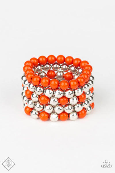 Paparazzi Pop-YOU-lar Culture Orange Bracelet Set - Princess Glam Shop