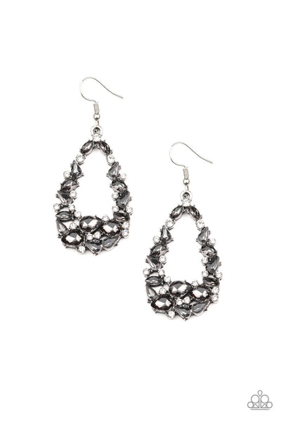 Paparazzi To Bedazzle, Or Not To Bedazzle Silver Earrings - Princess Glam Shop