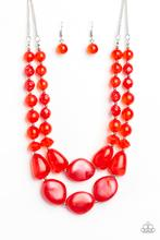 Paparazzi Beach Glam - Red Necklace Set - Princess Glam Shop