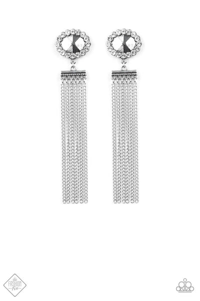 Paparazzi Tassel Throwback Silver Earrings - Princess Glam Shop