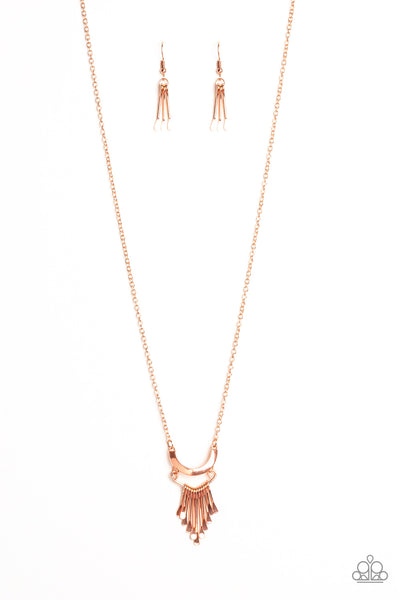 Paparazzi Trendsetting Trinket - Copper Necklace Set - Princess Glam Shop