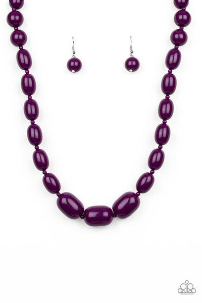 Paparazzi Poppin Popularity- Purple Necklace- Paparazzi Accessories - Princess Glam Shop
