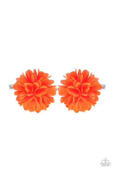 Paparazzi Neatly Neon - Orange Hair Clips - Princess Glam Shop
