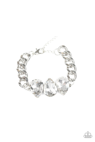 Paparazzi Bring Your Own Bling - White Bracelet-Princess Glam Shop