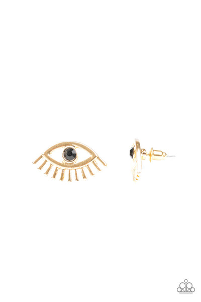 Paparazzi Don't Blink - Gold Earrings - Princess Glam Shop