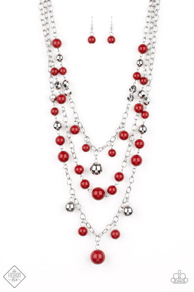 Paparazzi The Partygoer Wine Necklace Set - Princess Glam Shop