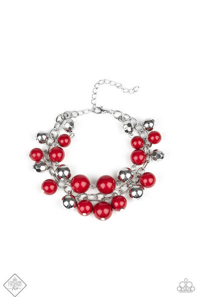 Paparazzi Party Posh Wine Bead Bracelet - Princess Glam Shop