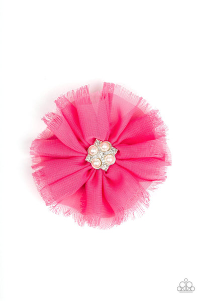 Paparazzi Flowering Fringe - Pink Hairclip - Princess Glam Shop