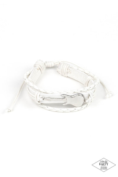 Paparazzi Lead Guitar - White Bracelet - Princess Glam Shop