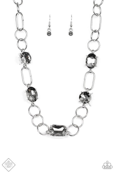 Paparazzi Urban District Silver Necklace Set - Princess Glam Shop