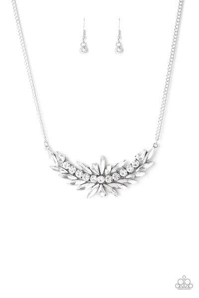 Paparazzi HEIRS and Graces White Necklace Set - Princess Glam Shop