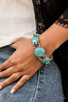 Paparazzi Eco Excellence Turquoise Stretch Bracelet - Princess Glam Shop