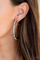 SOLD OUT Paparazzi Global Gleam - Black Hoop Earrings - Princess Glam Shop