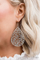 Paparazzi Grapevine Grandeur - Silver Earrings - Princess Glam Shop