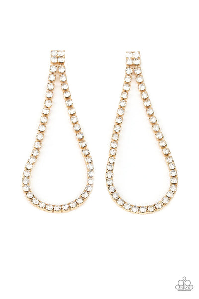 Paparazzi Diamond Drops - Gold Earrings - Princess Glam Shop