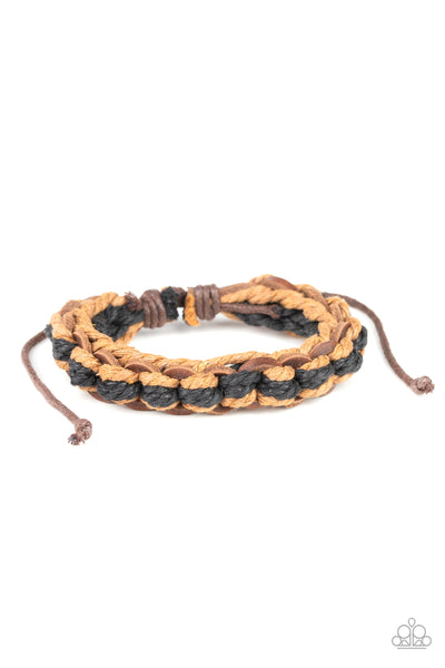 Paparazzi WEAVE It To Me - Brown Bracelet - Princess Glam Shop